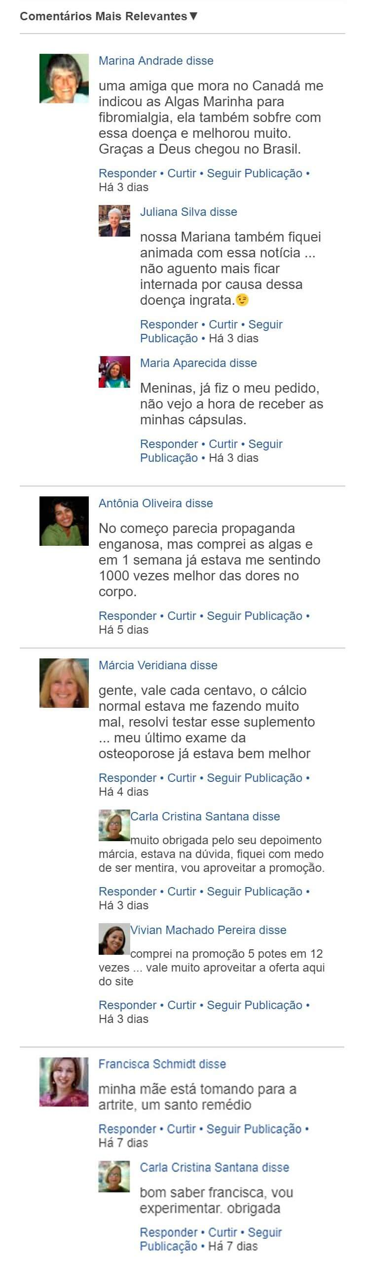 Depoimento do BIOMAC no feed do Facebbok